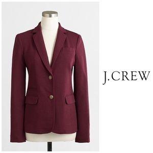 J Crew Maroon Stretch Knit Lined Blazer